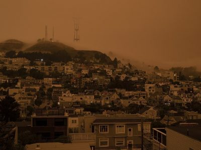 North Complex smoke in San Francisco, courtesy Flickr user Christopher.Michel via Wikimedia Commons